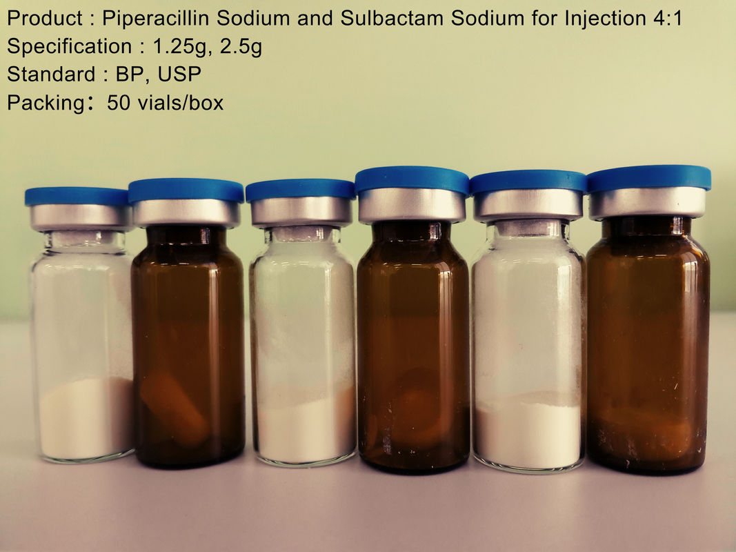 1.25g 2.5g Dry Powder Piperacillin Sodium / Sulbactam Sodium Injection