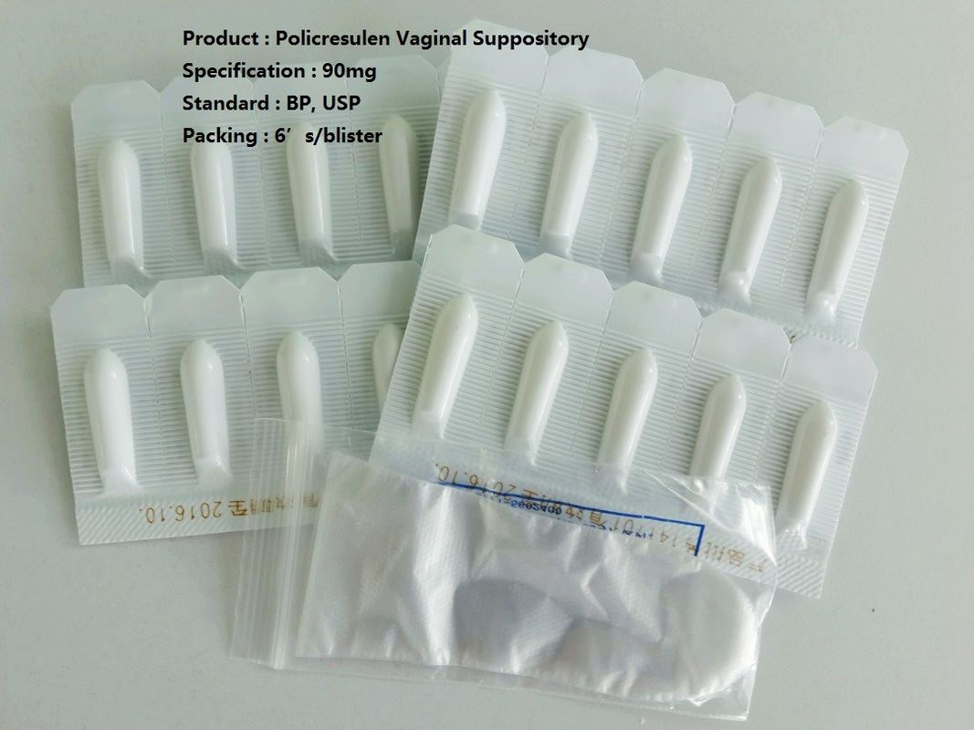 90mg Medication Suppositories Policresulen Vaginal Suppository Medicine