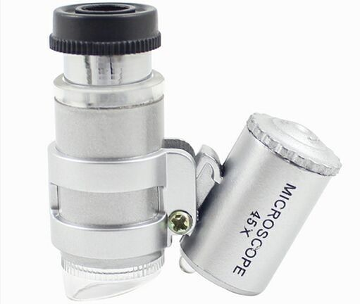 Research Optical Medical Equipment / 45X LED Mini Pocket Microscope